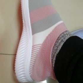 Women's Casual Mesh Sneakers Knitted Flat Shoes photo review