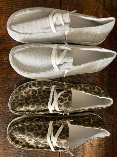 Women Casual Sneakers Canvas Round Toe Flat Shoes photo review