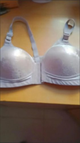 💝Sexy Pattern Front Buckle Gathered Bra (BUY 2 GET 1 FREE) photo review