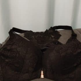 Rose Embroidery Front Closure Wirefree Bra photo review